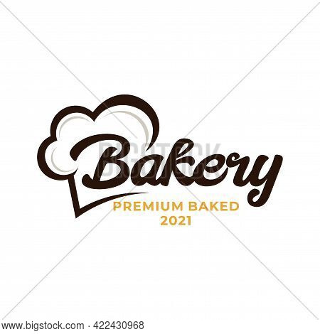 Bakery Chef Logo. Wheat Rice Agriculture Logo Inspiration Template Vector