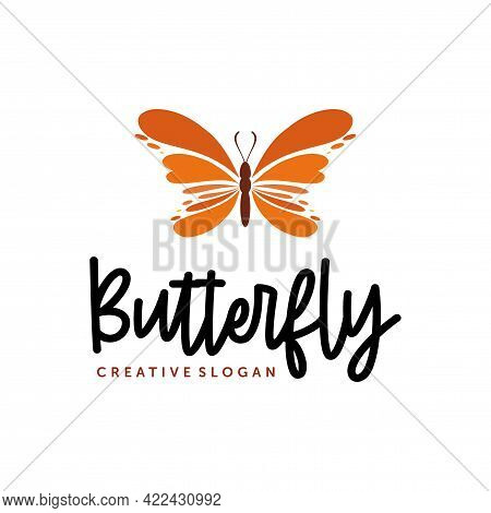 Butterfly Logo Design. Fashion And Beauty Logo With Butterfly Symbol Vector Inspiration
