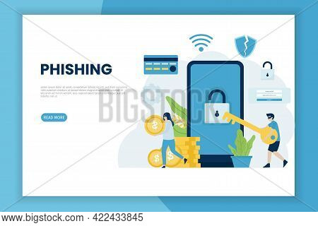 Stealing Information Digital Hacking Concept