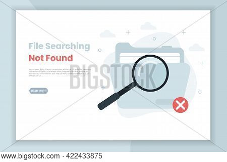 404 Error Page Or File Not Found Illustration Landing Page