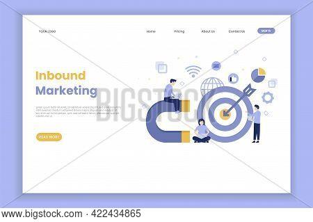 Modern Flat Design Inbound Marketing Illustration Landing Page For Site