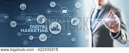 Digital Marketing Technology Concept. Targeted And Interactive Marketing. Search Engine Optimisation