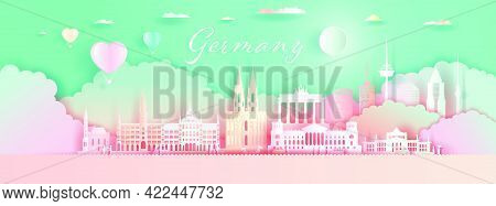 Germany Architecture Travel Landmarks Berlin With Balloons And Colorful For Wallpaper Background, To