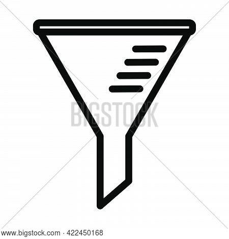 Icon Of Chemistry Filler Cone. Editable Bold Outline Design. Vector Illustration.
