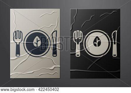 White Vegan Food Diet Icon Isolated White Background. Organic, Bio, Eco Symbol. Vegan, No Meat, Lact