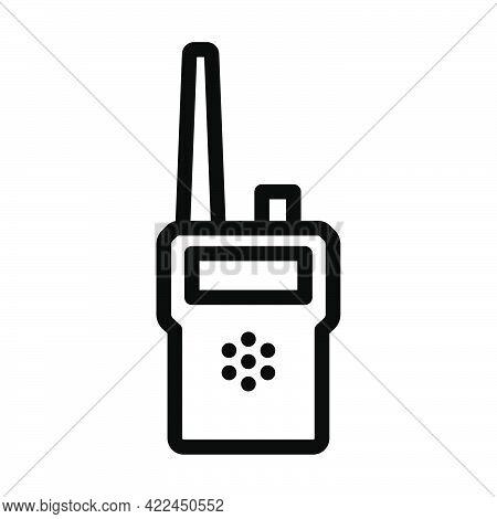 Portable Radio Icon. Editable Bold Outline Design. Vector Illustration.