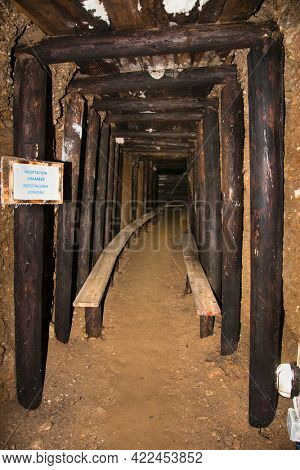 Visoko, Bosnia and Herzegovina-May 13.  2021: The mysterious Ravne tunnels in Bosnian Pyramid Valley , Visoko . Bosnia and Herzegovina.