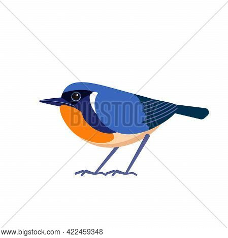 Firethroat Bird Also Known As Davids Rubythroat Or Pere Davids Orangethroat Is A Species Of Passerin