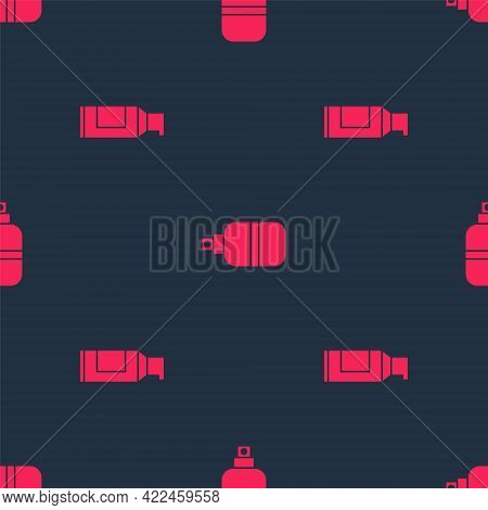 Set Spray Can For Hairspray And Perfume On Seamless Pattern. Vector