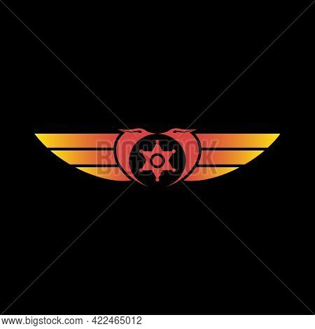 Illustration Vector Graphic Of Double Phoenix Logo