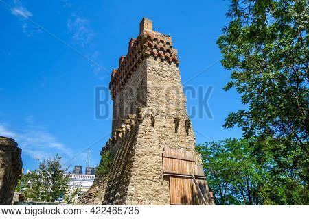 Tower Of St. Constantine, Feodosia, Crimea. It's Part Of Medieval Genoese Fortress, Most Important,