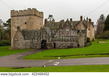 Drum Castle, Scotland, Uk - 06 February 2016: Drum Castle And Grounds In Aberdeenshire, Scotland. Dr