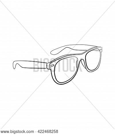 Sunglasses Outline Isolated Vector Illustration Sunglasses Outline Isolated Vector Illustration Sung