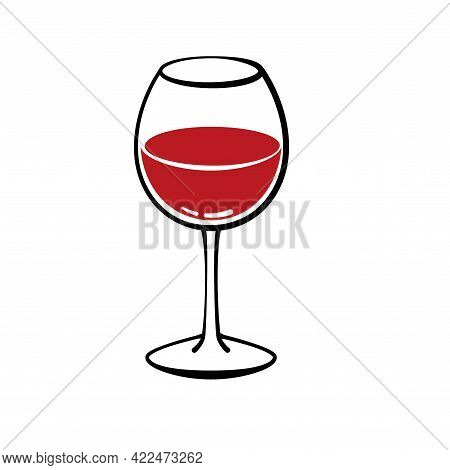 Glasse Of Red Wine. Cheers With Wineglass Glasse Of Red Wine. Cheers With Wineglass Glasse Of Red Wi