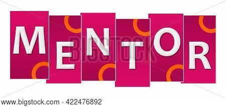 Mentor Text Written Over Pink Orange Background.