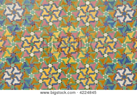 Beautiful oriental mosaic decoration in Casablanca Morocco poster