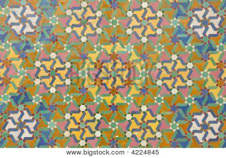 Beautiful oriental mosaic decoration in Casablanca Morocco poster