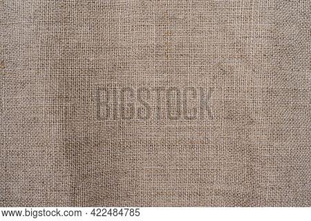 Natural Linen Background, Natural Linen Sackcloth Texture Closeup For Design Brown Light Linen Textu