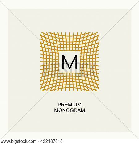 Exquisite Template For Creating A Monogram, Emblem, Logo. Intertwined Spider Web, Intertwined Bamboo