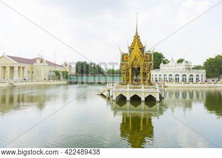 Aisawan Dhipaya Asana Pavilion At Bang-pa-in Summer Palace, Thailand.