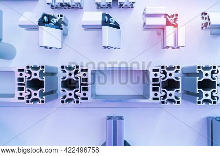 Cross sections of extruded aluminium or aluminum channels for use in manufacturing and fabrication