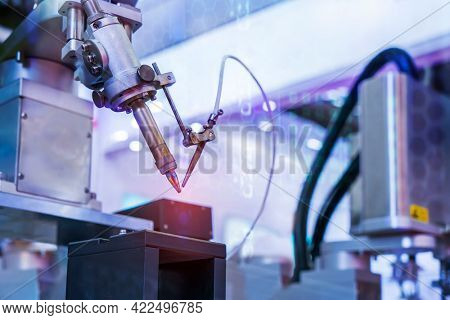 robotic soldering iron tips of automated manufacturing soldering and assembly pcb board