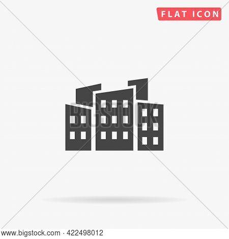 City Flat Vector Icon. Hand Drawn Style Design Illustrations.