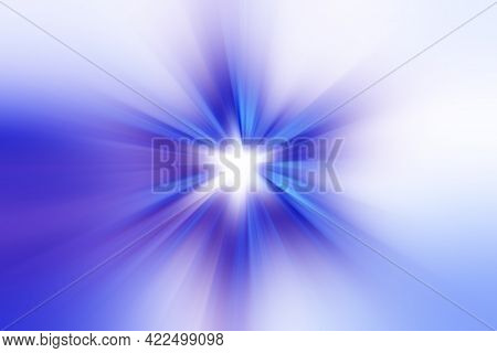 Abstract Surface Of Radial Blur Zoom   In Lilac, Blue And White Tones. Bright Colorful Background Wi