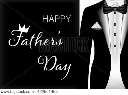 Happy Father S Day Greeting Card. Vector Illustration
