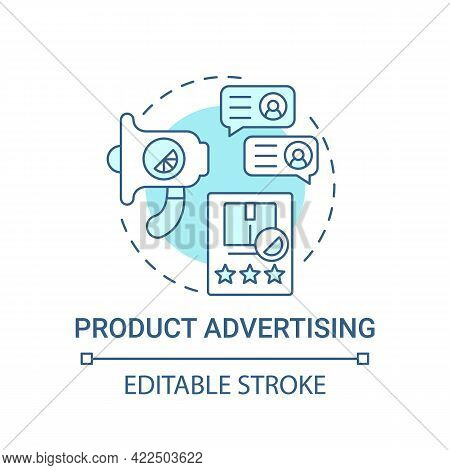Product Advertising Concept Icon. Corporate Branding Touchpoint Abstract Idea Thin Line Illustration