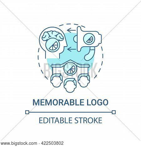 Memorable Logo Concept Icon. Logotype Design Principle Abstract Idea Thin Line Illustration. Origina