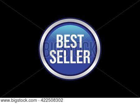 Best Seller Icon Design, Best Seller Badge Logo Design Template Vector Illustration