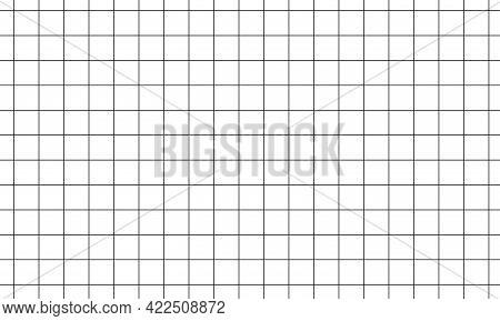 Square Geometric Grid Pattern. Millimetric Plotter Paper.