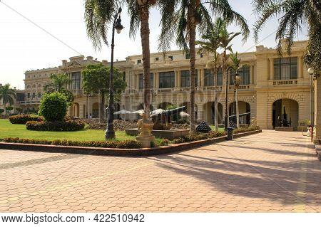 Cairo - Egypt - October 4, 2020: Presidency Museum Entrance. Facade Of Abdeen Royal Palace, Located