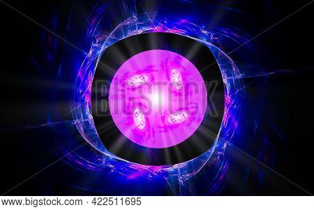 Abstract Illustration Computer Render Background Image Fantastic Star With Rays For Web Design And G