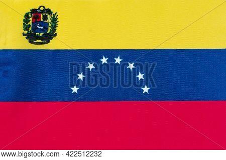 Fabric National Flag Of Venezuela Close-up World,