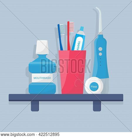 Toothbrush, Electric Toothbrush, Portable Oral Irrigator And Toothpaste, Mouthwash, Dental Floss Are