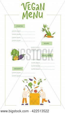 Vegan Menu, Cooks Are Cooking Vegetable Soup On Kitchen In Restaurant. Funny Chef Men Making Vegetar