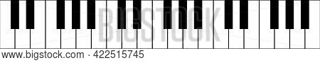 Piano Keyboard Background Abstract Illustration. Vector Flat Concept