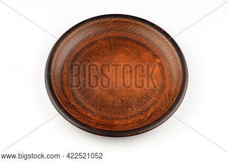 Empty Earthenware On A White Background Isolate.