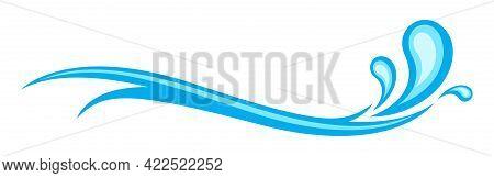 Water Splash, Water Wave Ocean Graphic Symbol, Water Ripples Light Blue, Ocean Sea Surface Graphic,