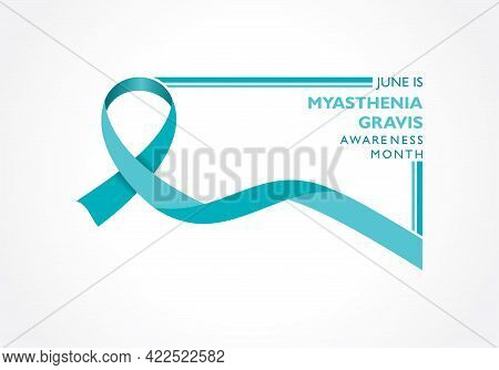 Vector Illustration Of Myasthenia Gravis Awareness Month Observed In June, It Is A Neuromuscular Dis