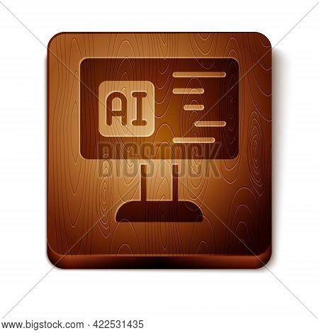 Brown Software, Web Developer Programming Code Icon Isolated On White Background. Javascript Compute
