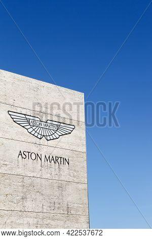 Merignac, France - June 5, 2017: Aston Martin Logo On A Panel. Aston Martin Is A British Manufacture