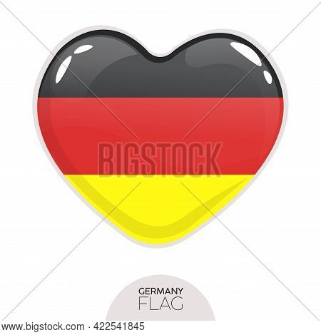 Isolated Flag Germany In Heart Symbol Vector Illustration
