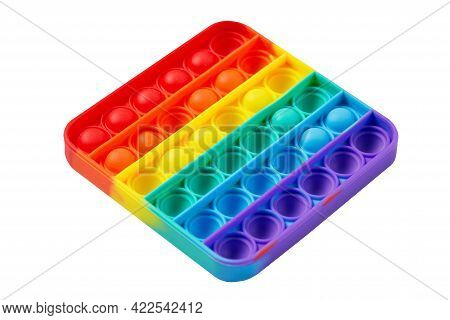 Colorful Toy Fidget Pop It Isolated On White Background. New Popular Toy Pop It.