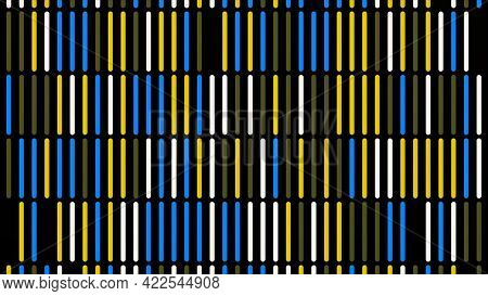 Abstract Vertical Parallel Rows Of Line Segments Moving Intermittently From Bottom To Top Isolated O