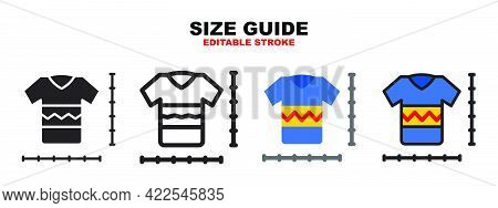 Size Guide Icon Set With Different Styles. Colored Vector Icons Designed In Filled, Outline, Flat, G