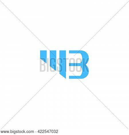Letter Mb Stripes Geometric Line Simple Logo Vector