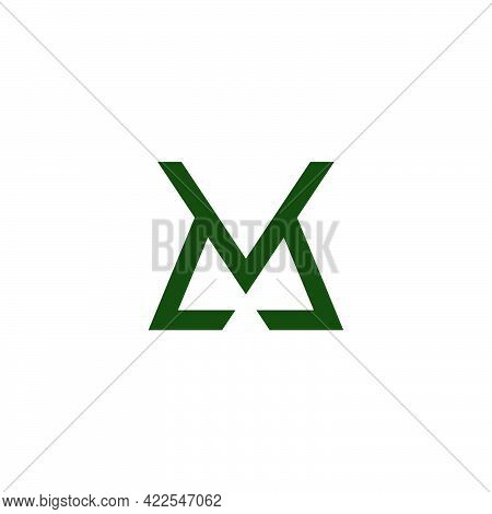 Abstract Letter Mk Geometric Line Simple Logo Vector
